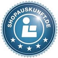 TOP-bewertet auch bei SHOPAUSKUNFT.DE